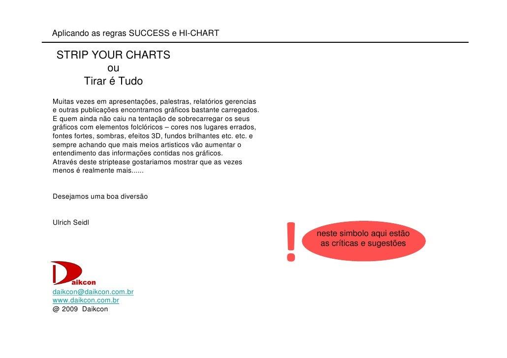 Aplicando as regras SUCCESS e HI-CHART   STRIP YOUR CHARTS           ou      Tirar é Tudo Muitas vezes em apresentações, p...
