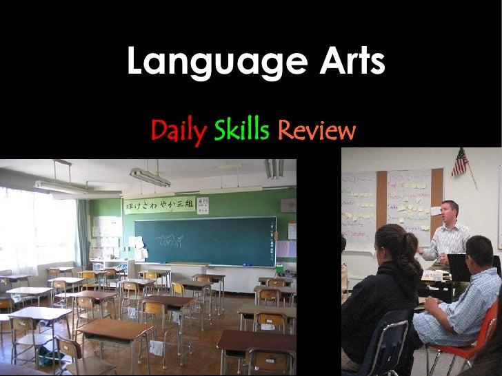 Language Arts Daily   Skills   Review
