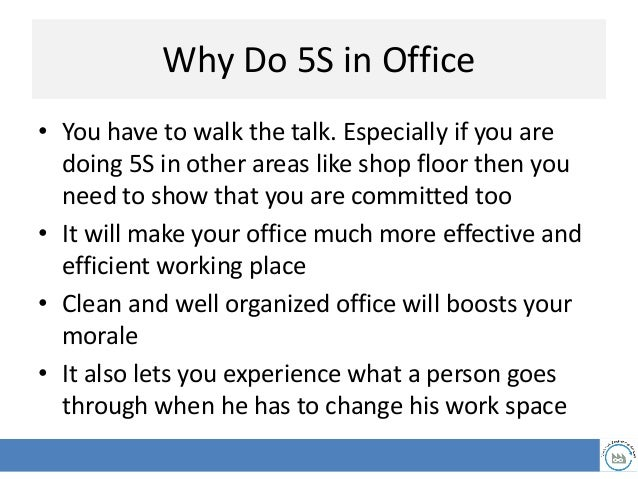 Daily 15 minute office 5S