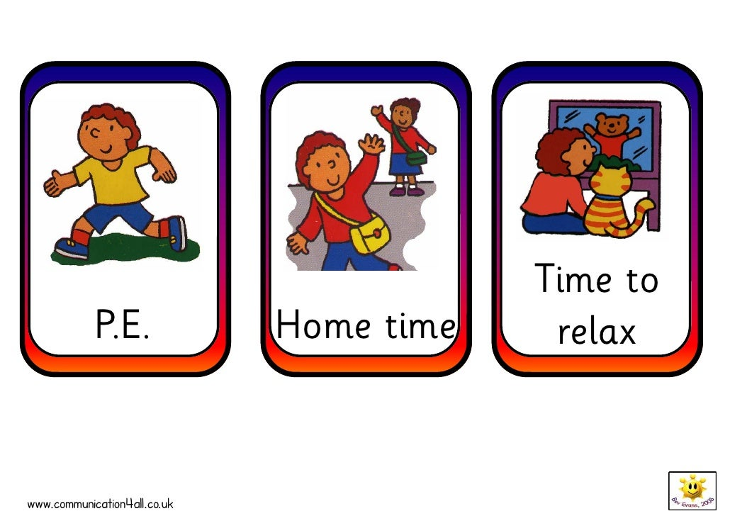 d aily routine cards Lunch at School Clip Art Clean Up Time Clip Art