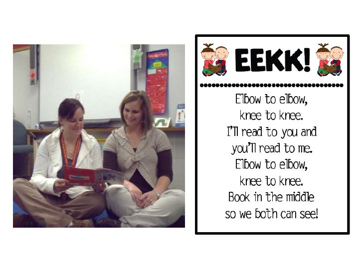 Read to SomeoneStudents:                                     Teacher:•   Sit EEKK (elbow to elbow, knee to knee)   • Work ...
