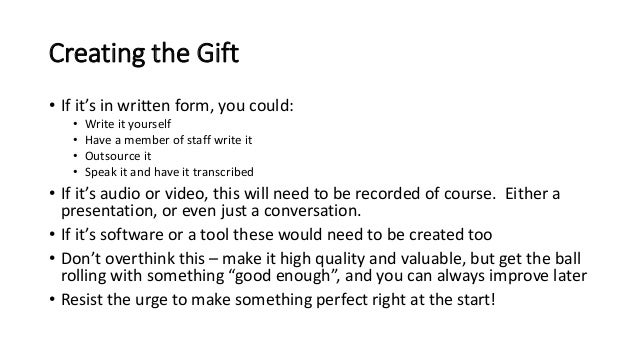 How to Quickly Put Together an Effective Lead Attraction Gift