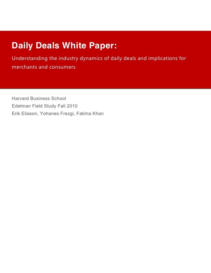 "!            !            !            !Daily Deals White Paper:            !            !            !!""#$%&(""#)""*+,$+)""#..."