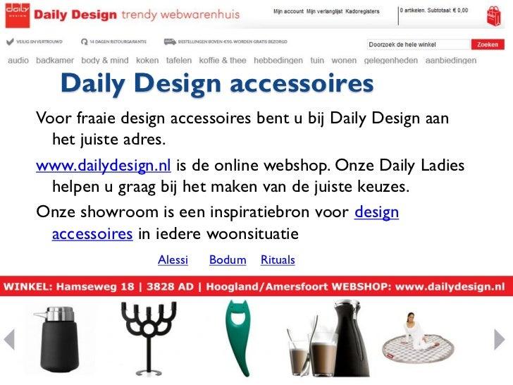 Daily design webshop en winkel voor woonaccessoires for Woonaccessoires winkel