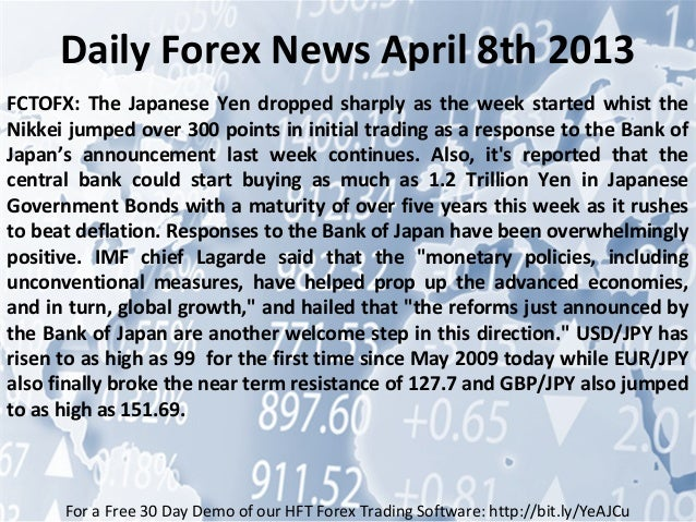 Daily forex news