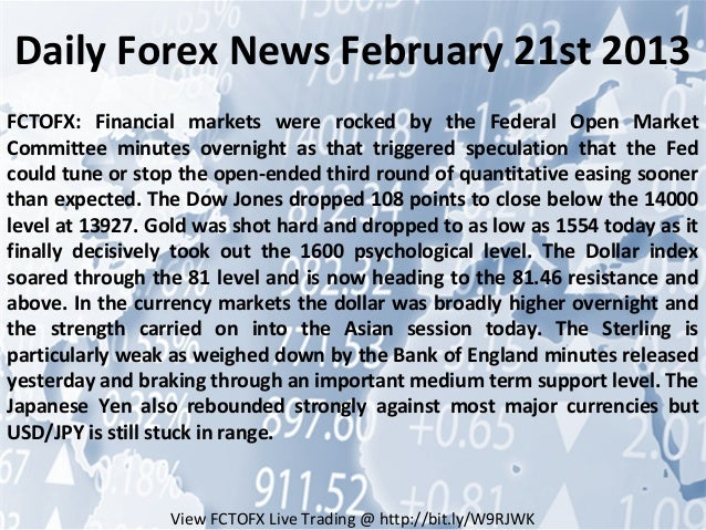 Forex daily news