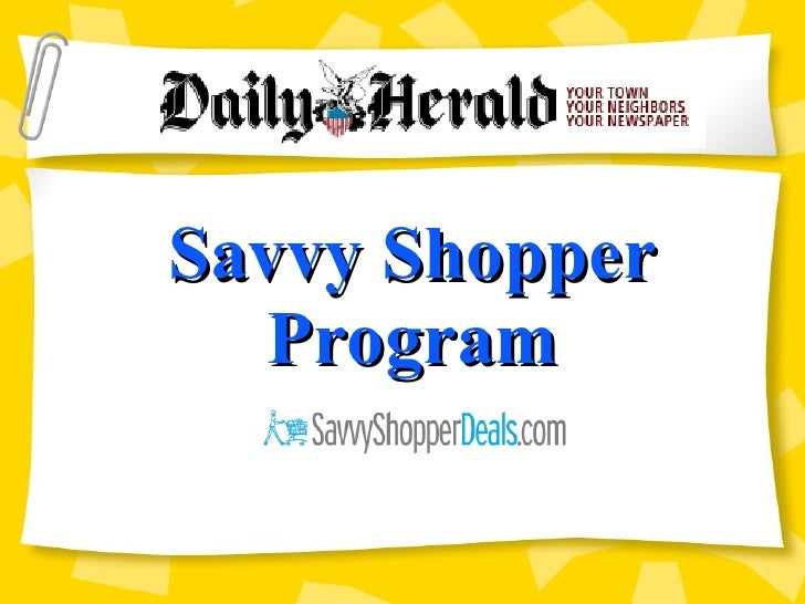 Savvy Shopper Program