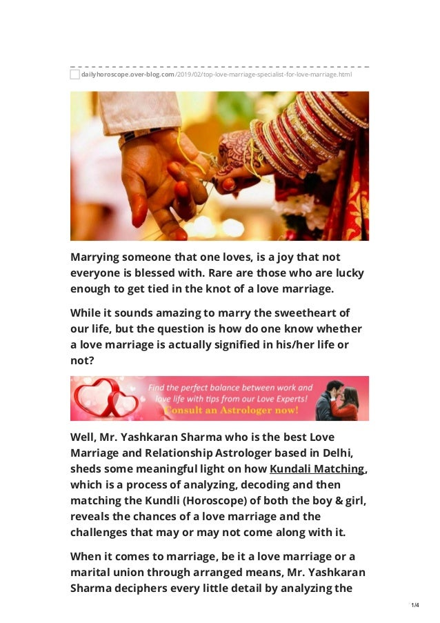 Top Love Marriage Specialist sheds light on Kundli Predictions