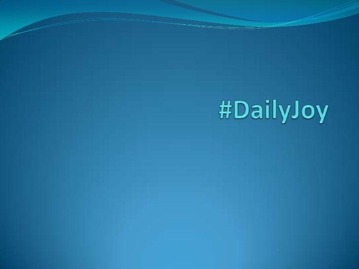 #DailyJoy<br />