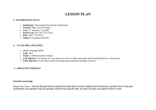 Daily Lesson Plan Sample