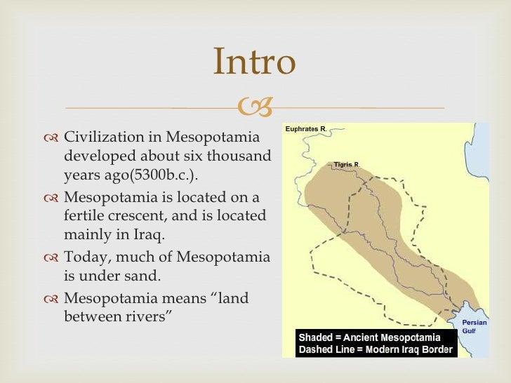 Daily Life in Mesopota... Fertile Crescent Rivers