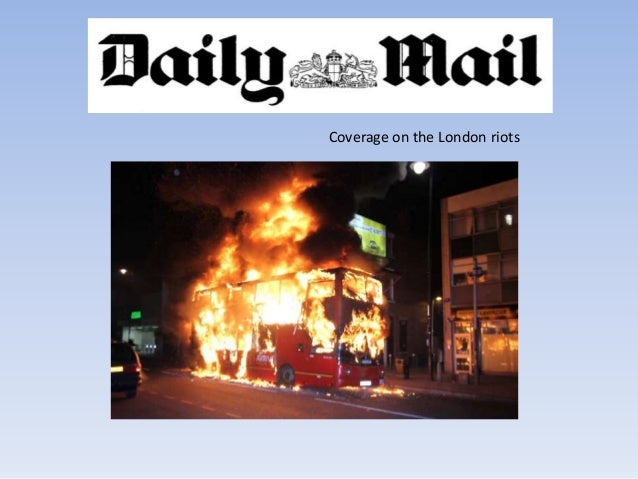 Coverage on the London riots
