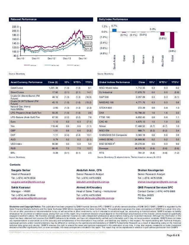 26 January Daily market report