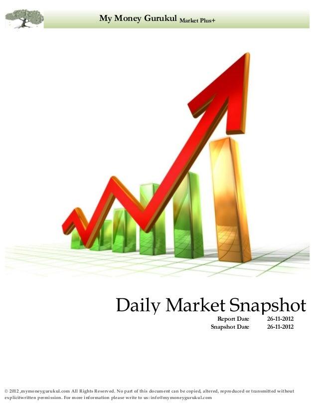 My Money Gurukul Market Plus+                                                 Daily Market Snapshot                       ...