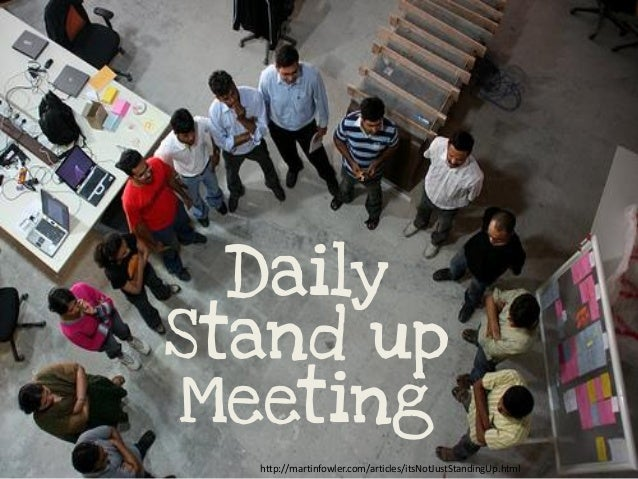 Daily Stand up Meeting http://martinfowler.com/articles/itsNotJustStandingUp.html
