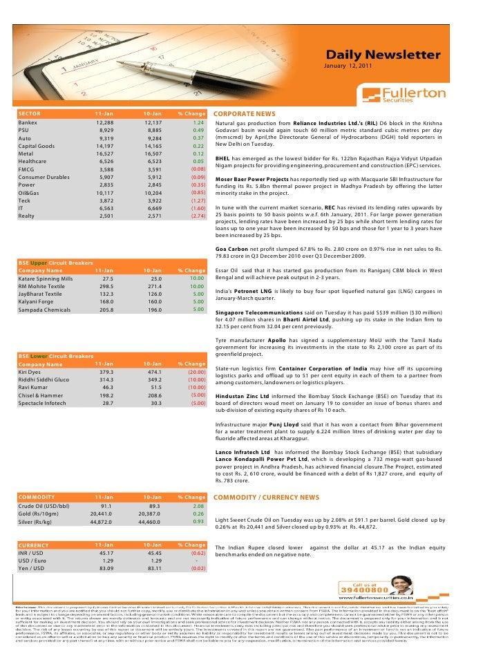 Daily Newsletter: 12th January, 2011 Slide 2