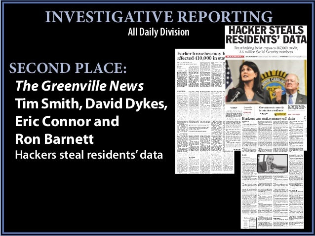 INVESTIGATIVE REPORTING                      All Daily Division                                                           ...