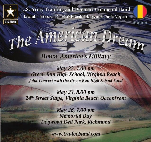 U.S.ArmyTrainingandDoctrineCommandBand LocatedintheheartofAmerica'sHistoricTriangleonFt.Eustis,Virginia