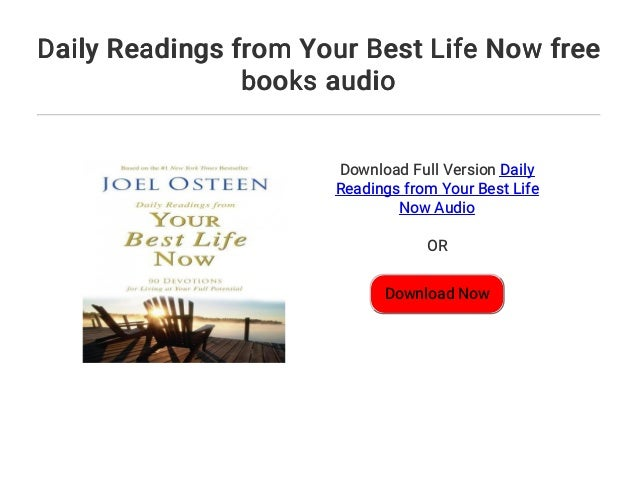 Daily Readings From Your Best Life Now Free Books Audio