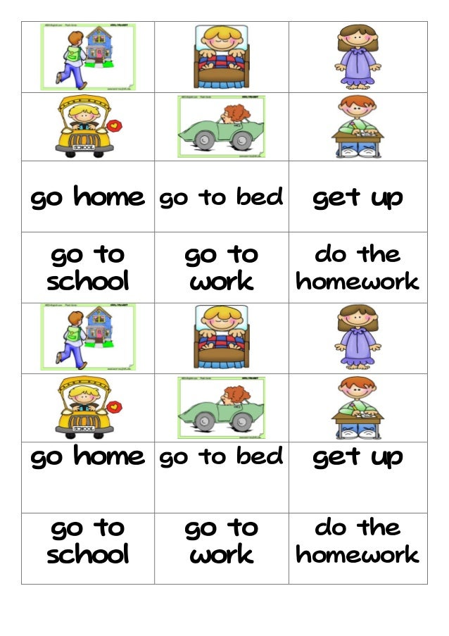 Daily Routine Flashcard