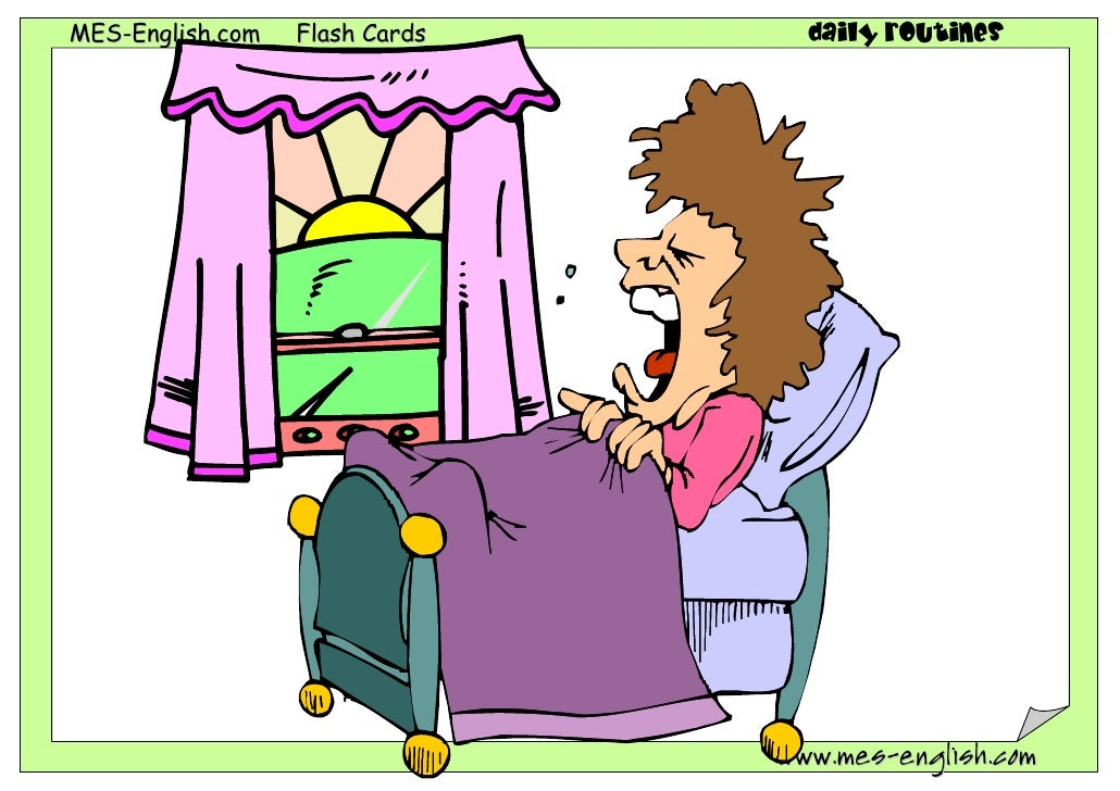 MES-English.com   Flash Cards     daily routines                                www.mes-english.com