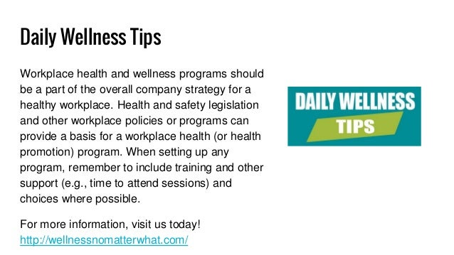 Daily Wellness Tips