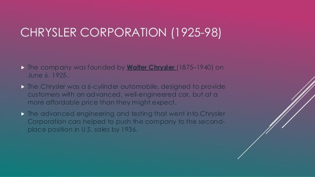 chrysler llc failure Instead of preserving and leveraging chrysler's unique competitive advantage, daimler's consolidation mindset and its insistence that the daimler way should prevail, combined with the other more obvious failure factors, destroyed the company.