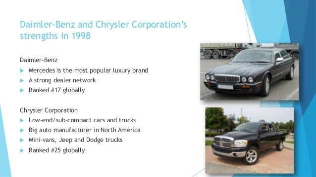 an observation of employees being skeptical of the merger between chrysler and daimler benz in a rev