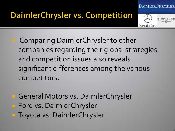 daimler chryslers strategy An analysis of porter's five forces framework in relation to mercedes benz pages 2 words 830 view full essay  mercedes benz, daimler chrysler, 5 forces framework.