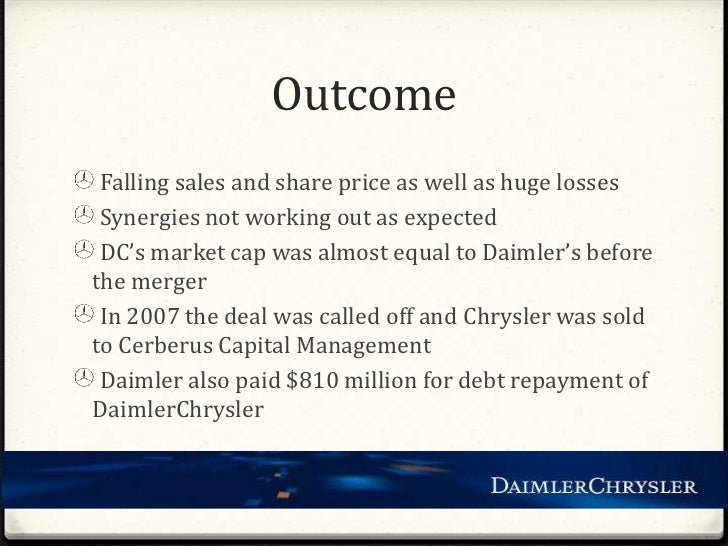 daimler chrysler ag from merger to divorce management essay Since the merger of daimler-benz and chrysler corporation in mid  and form a hybrid strategy for management of chrysler  daimler ag and chrysler.
