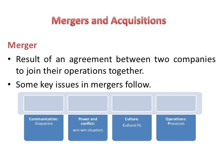 Mergers and Acquisitions - M&A