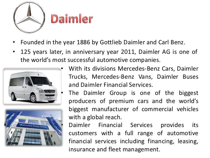 daimler benz a g negotiations between daimler and chrysler Daimlerchrysler ag 1998: daimler-benz bought chrysler in form of shares  mercedes car group chrysler group truck group van bus other cial ser-vices mercedes-benz may-bach  negotiations have not yet been conducted extraordinary ewc meetings have not yet taken place.