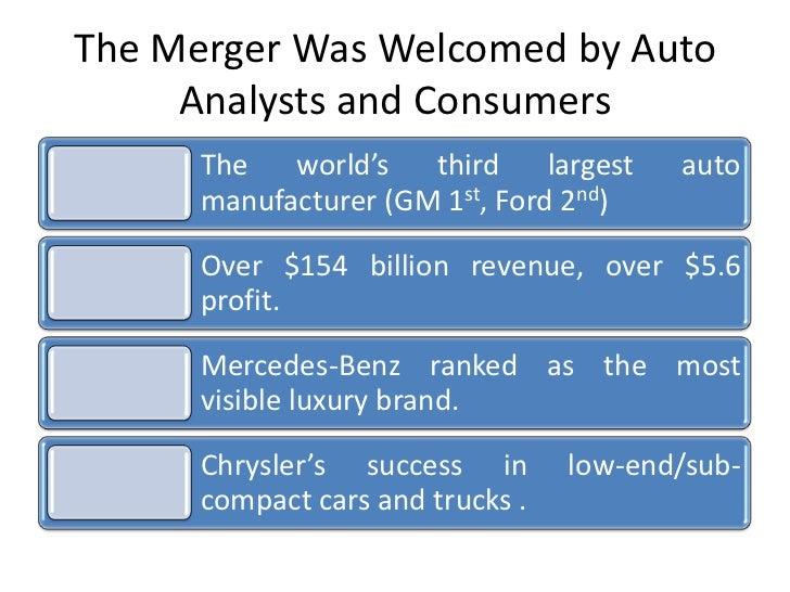 Merger Acquisitions for Daimler Benz Chrysler