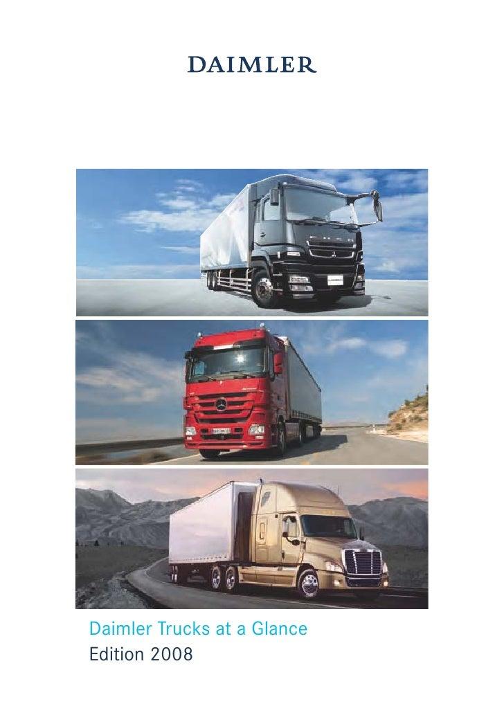 Daimler Trucks at a Glance Edition 2008