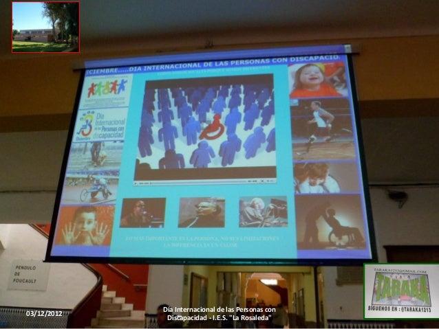 Día Internacional de las Personas con03/12/2012                                           1              Discapacidad - I....