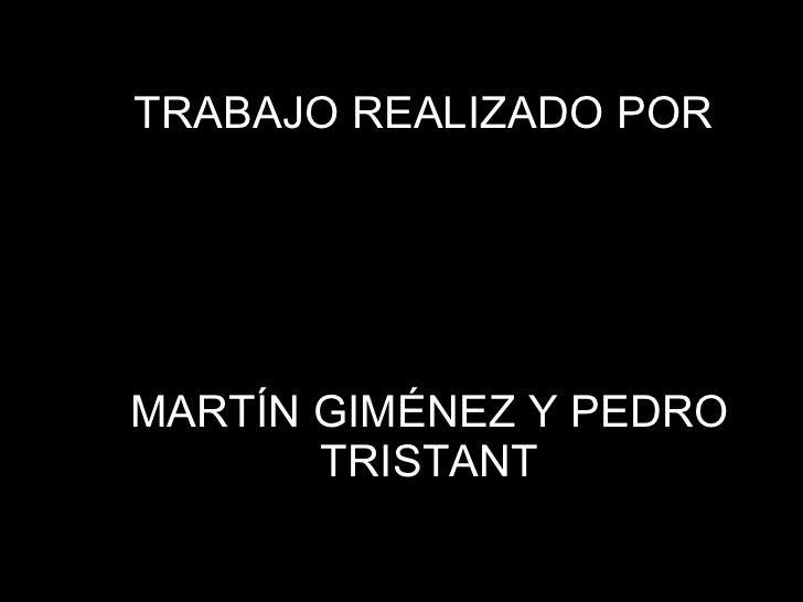 TRABAJO REALIZADO POR  MARTÍN GIMÉNEZ Y PEDRO TRISTANT 1º7 LICEO 3 2011 PROF: GRACIELA PACHECO. FLORIDA