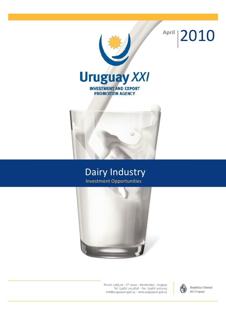 April                                   2010Dairy IndustryInvestment Opportunities