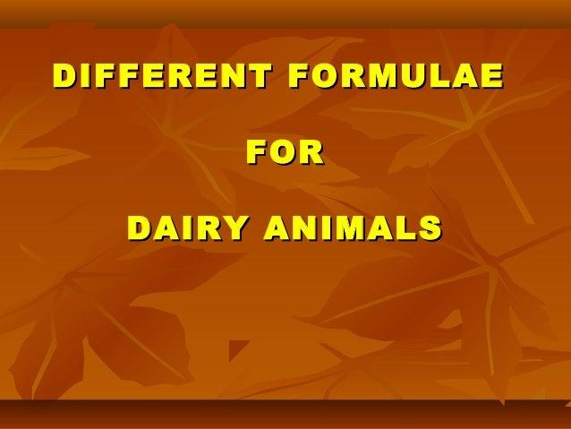 Dairy Feeding Management