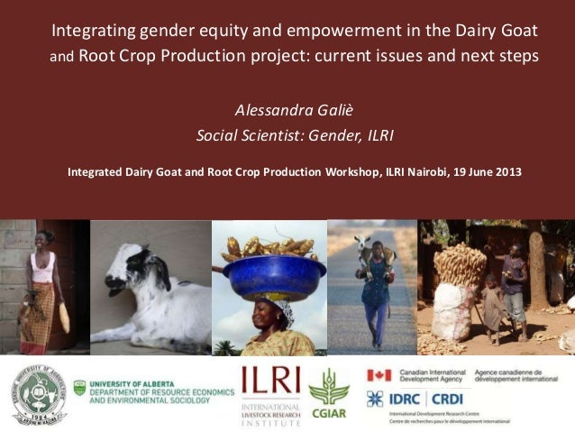 Partner Logo Partner Logo Integrating gender equity and empowerment in the Dairy Goat and Root Crop Production project: cu...