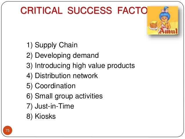 critical sucess factors in ice cream industry Critical success factors (csf) are the key areas, which must be performed at the highest possible level of excellence if organizations want succeed in the particular industry they vary between different industries or even strategic groups and include both internal and external factors.