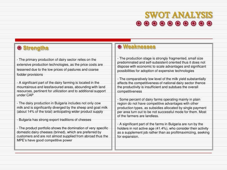 swot analysis of dairy queen Great work life balance and company culture a very old and interesting franchise  i absolutely loved working at my dairy queen, but it was a franchise and was.