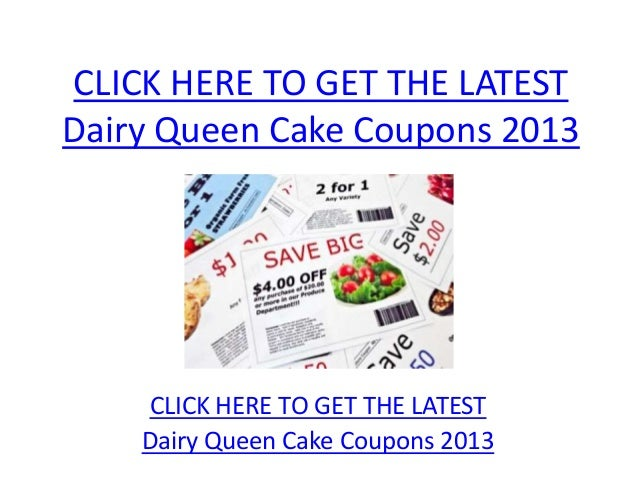 photograph relating to Dairy Queen Printable Application known as Dairy Queen Cake Discount codes 2013 - Printable Dairy Queen Cake