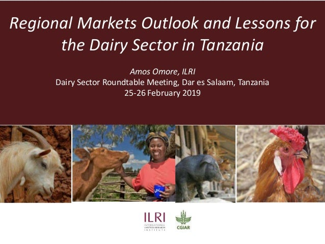 Regional Markets Outlook and Lessons for the Dairy Sector in Tanzania Amos Omore, ILRI Dairy Sector Roundtable Meeting, Da...