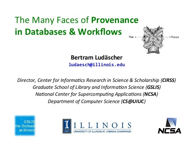 DAIS Seminar: The Many Faces of Provenance in Databases and Workflows