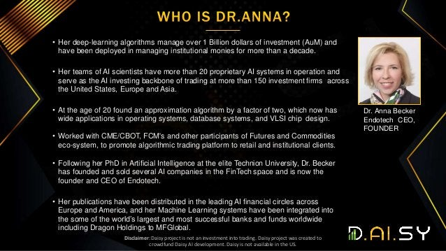 • Her deep-learning algorithms manage over 1 Billion dollars of investment (AuM) and have been deployed in managing instit...