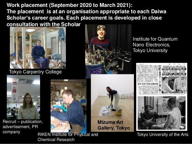 Daiwa Scholarships 2018-19