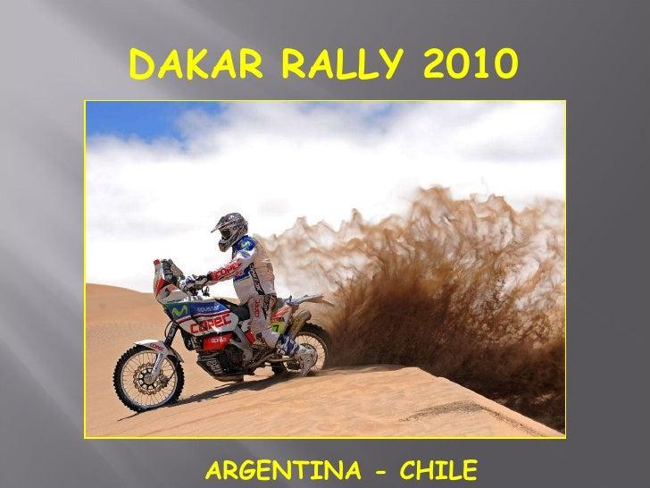 DAKAR RALLY 2010 ARGENTINA - CHILE