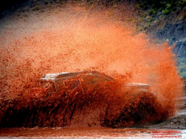 A competitor makes a splash during stage seven. photographer Franck Fife AFP