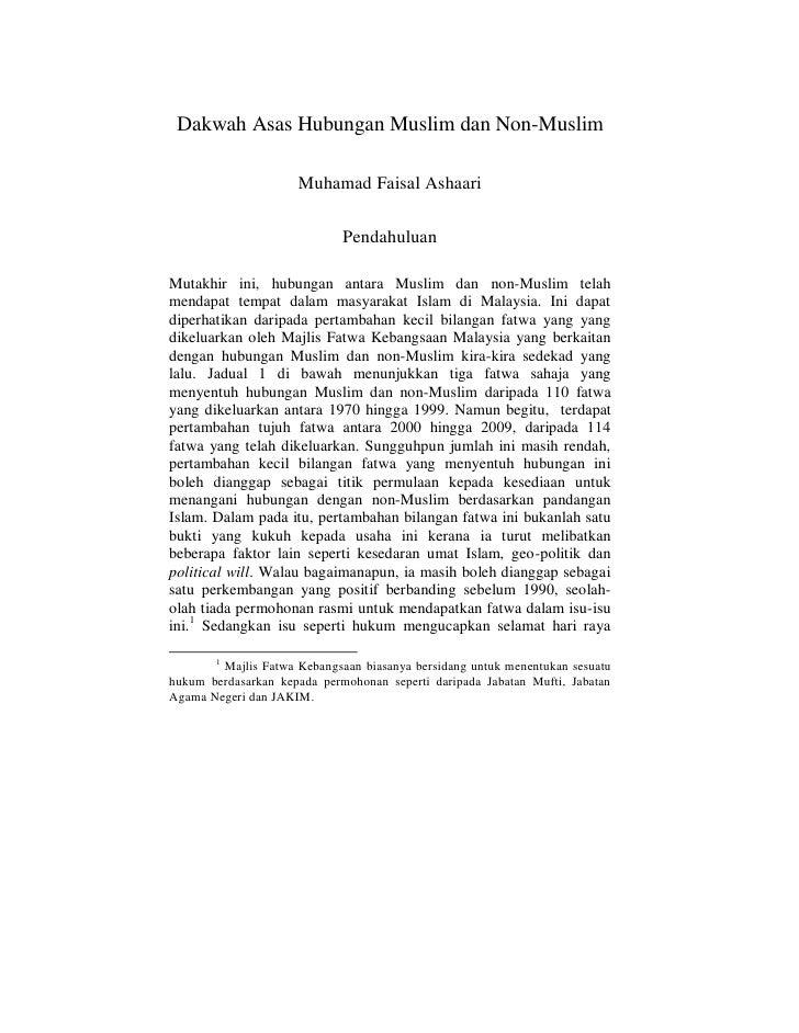 Dakwah Asas Hubungan Muslim dan Non-Muslim                       Muhamad Faisal Ashaari                               Pend...
