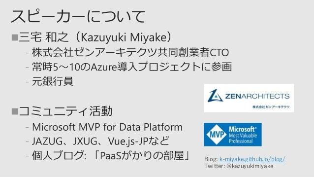  ﹣ ﹣ ﹣  ﹣ ﹣ ﹣ Blog: k-miyake.github.io/blog/ Twitter: @kazuyukimiyake